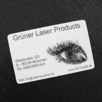 Grayscale through laser inscriptions